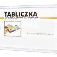 INFO TABLA 11 x 23 cm transparentni okvir