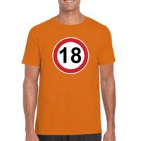 Majica-prometni-znak-moška-oranžna