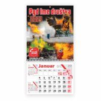 12 listni koledarji z nadkartonom